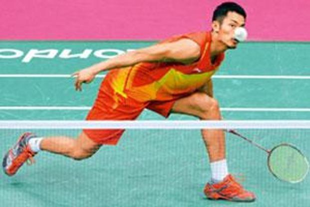 Gold run: China's Lin Dan played the Olympic final against Malaysia's Lee Chong Wei. Photo: Adek Berry/AFP